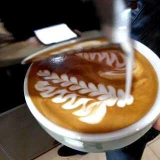 #咖啡拉花#练习练习