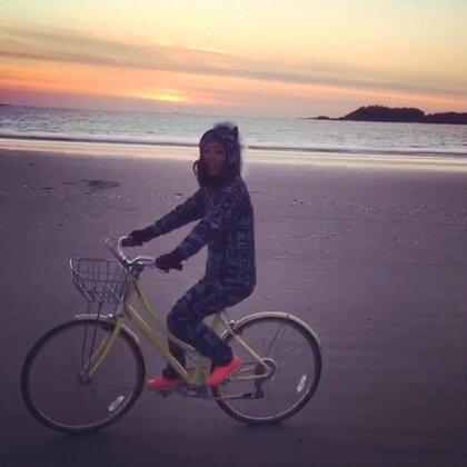 Sunset beach ride. #tofino#