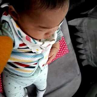 双胞胎兄弟每次打完针妈妈都会怂恿爸爸拉我们溜达溜达,今天没开卧铺车,妈妈只能坐后面充当真皮儿童座椅和智能可调节枕头😂😂哥哥好奇的看着外面弟弟舒服的躺着#小时候我长这样##宝宝成长记录##宝宝#