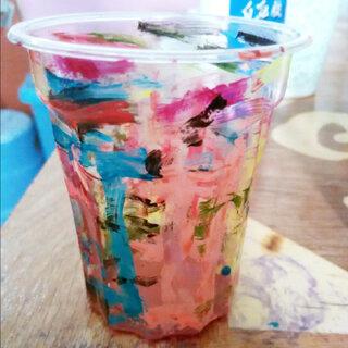 #杯子还能这样玩#拿妈妈的指甲油玩😁😁😁