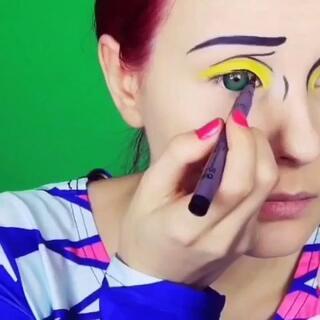 #用生命在玩cosplay##化妆##60秒美拍##时尚# 以假乱真的化妆