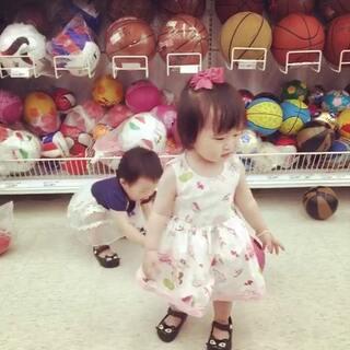 ❤423D,13+26。👭超市玩球球🏀⚽⚾🎾#宝宝##小小美好#