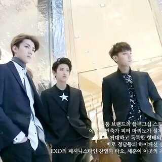 [The Celebrity]EXO灿烈TAO世勋名人杂志拍摄花絮。#至善韩流频道#