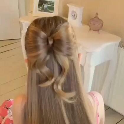 #时尚##化妆##盘发#漂亮的蝴蝶结盘发。😊❤