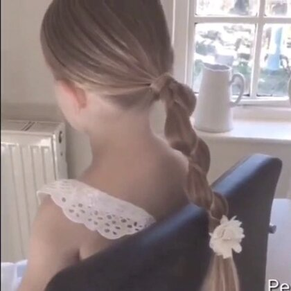 #时尚##化妆##盘发#一款漂亮的发辫教程。😊❤