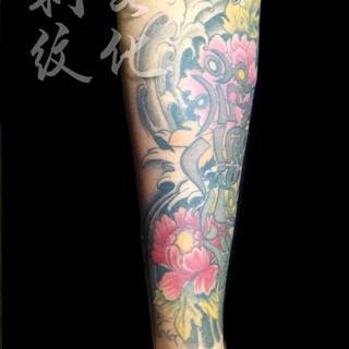 纹身##刺青##厦门纹身##海沧纹身店#牡丹花纹身 预约咨询