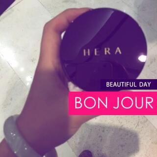 #晒出最爱的底妆产品#赫拉最新款抗皱防晒保湿气垫BB!强烈推荐!