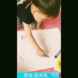 小小叮从昨天开始学会了画🍓 和芒果 有拍到的 要看完哦😍大家觉得像吗 💗喜欢他安静的样子💗#宝宝##superbaby#
