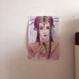 #cos花千骨##手绘彩铅画#十二岁画出这样算好的了,表喷我~^_^