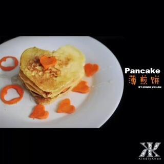 爱心薄煎饼 Heart-Shaped Pancake By:KindlyKhan 最简单美味餐😍 此时还没有模具😓… 更多美食教程,在广场#美食#频道哦 #七夕约会餐#