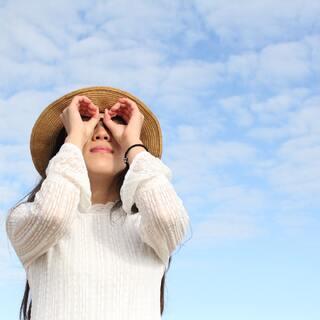 对着蓝天#ok圈眼自拍#