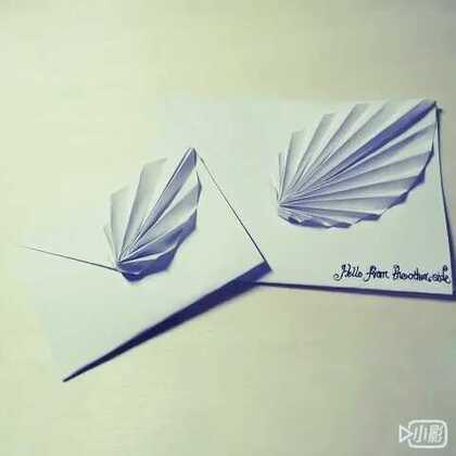 文艺小清新##折纸信封#树叶立体折纸信封#涨姿势##我要上热门#表白图片