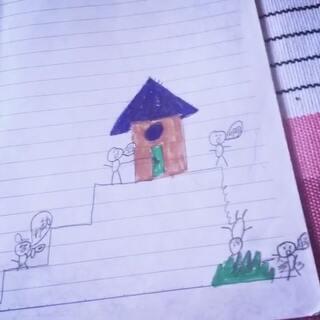 小学一年级画的漫画,小时候的智商真令人捉鸡呀⋯⋯#漫画##二次元##一年级##随笔漫画##美拍脑残广告#
