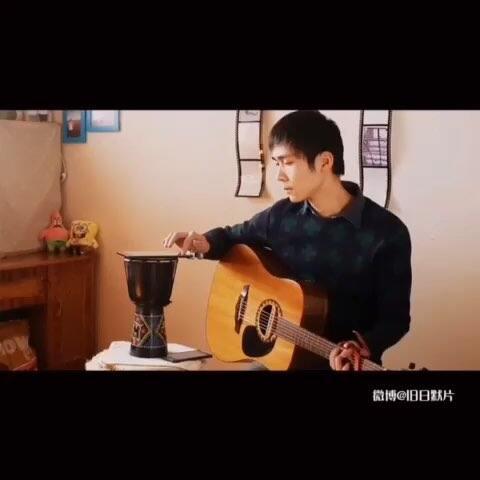 【旧日默片美拍】弹唱 陈奕迅 《想哭》 #音乐##美...