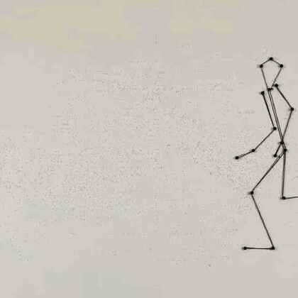 大头钉+橡胶线 #创意定格动画##创意##涨姿势#