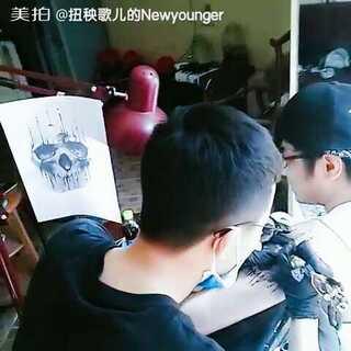tengutattoo 骷髅头#纹身刺青##tattoo##三里屯太古里##北京纹身