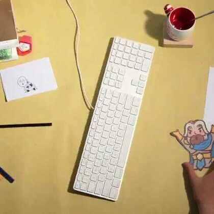 书桌上的#定格动画#👍 #创意##涨姿势##最美定格动画#