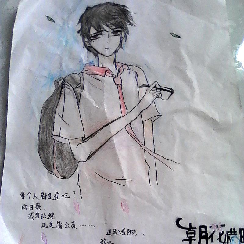 #手绘彩铅画#
