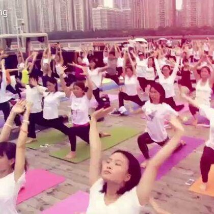 #聚会##航拍##活色生香##瑜伽#广州首个千人瑜伽汇😃😃