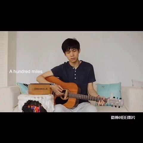 【旧日默片美拍】弹唱 《500 miles》#音乐##吉他...