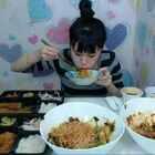 #韩国吃播#弗朗西斯卡吃炸猪排、筋面