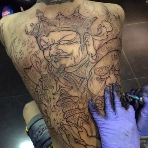 福州纹身 全臂 满背 遮盖 天王 承受别人不能承受 鲨鱼刺青か的美拍