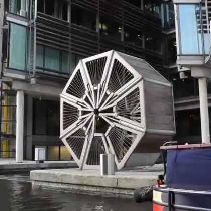 #涨姿势#当这个机械完全展开后才知道,这是折叠滚桥!