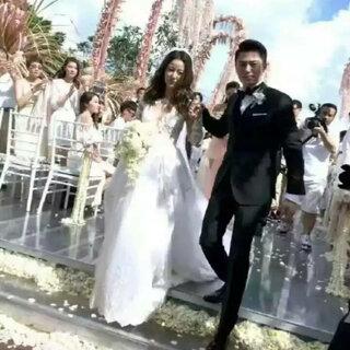 新婚见证❤#霍建华林心如结婚#