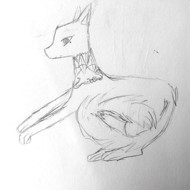 狐狸素描画步骤