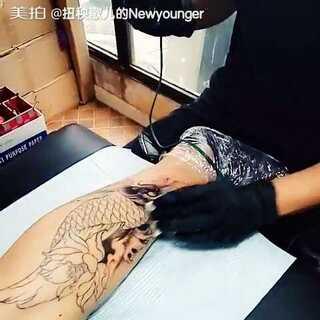 中的鲤鱼#纹身刺青##鲤鱼纹身##tengutattoo工作室##三里屯太古里
