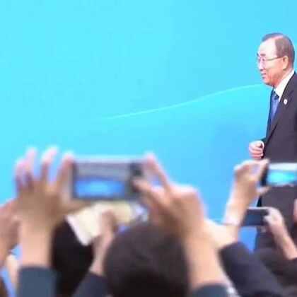 秘书长潘基文在G20峰会表示,可持续发展需要可持续和平的支持。