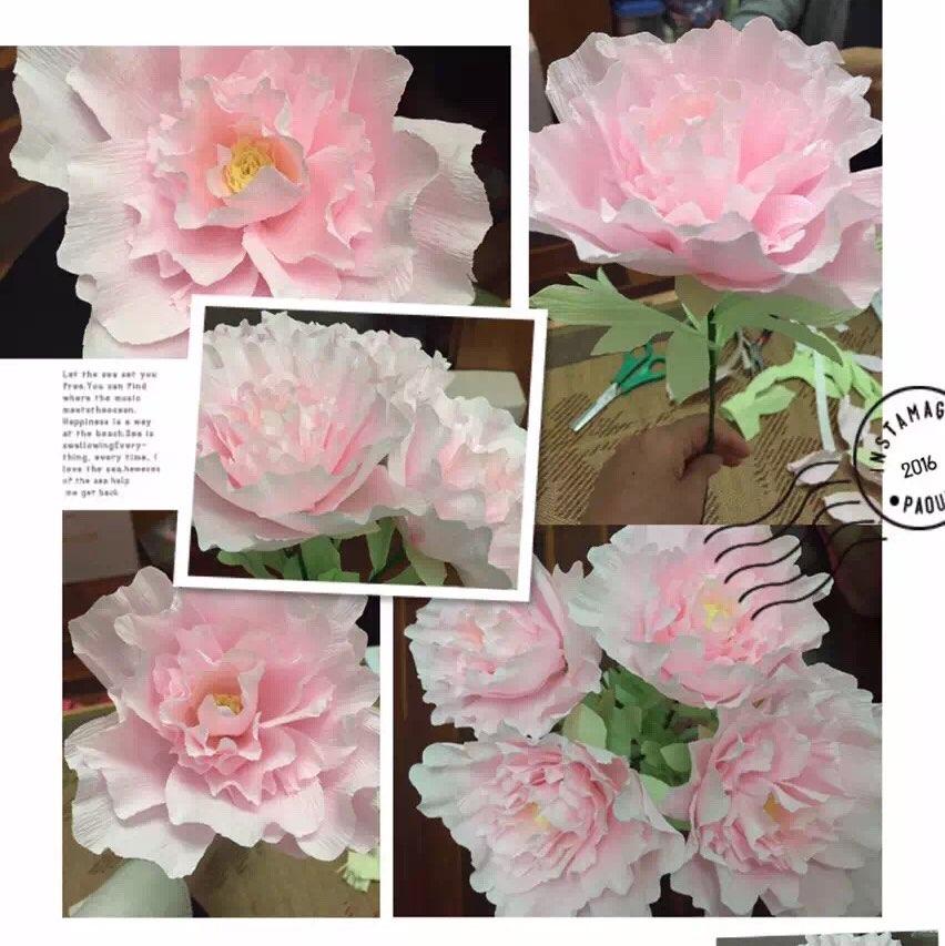 皱纹纸花---芍药,喜欢吗?