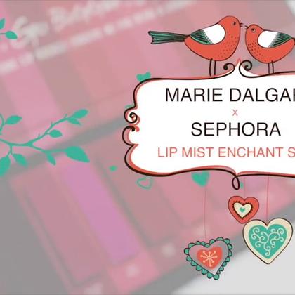 送上 玛丽黛佳独家入驻丝芙兰SEPHORA的唇膏礼盒【MARIE DALGAR LIP MIST ENCHANT SET】的试色。 总12色~不要太美好~玛丽黛佳越来越棒了稀饭~~第一次出试色视频希望你们喜欢~在此条视频点赞加评论抽两位送MARIE DALGAR的眉笔~么么哒#试色##美妆时尚#