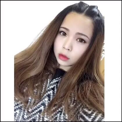 小恶魔刘海~⊂((・x・))⊃之前有丸粉要的玛丽黛佳唇膏试色我的第二个造型的刘海弄法~