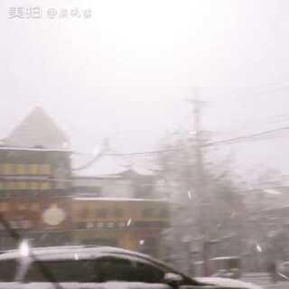 #拍下你面前的东西#下雪了