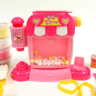 """#宝宝##玩具##玩具介绍##直播玩玩具#""""世拉的爆米花店""""#粘土玩具#"""