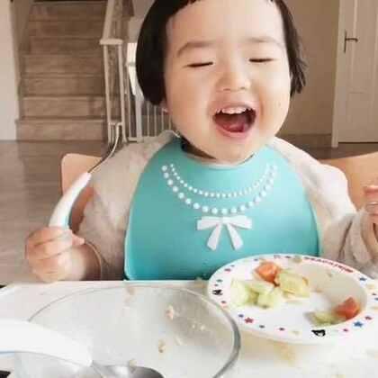 昨天的早餐。#可爱吃货小萌妞##吃货小蛮##小蛮一岁11个月#