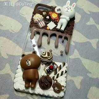 布朗熊✧ʕ̢̣̣̣̣̩̩̩̩·͡˔·ོɁ̡̣̣̣̣̩̩̩̩✧ 背景音乐是刘瑞琦的【我的烦恼是你】#奶油手机壳##diy奶油手机壳##手工#