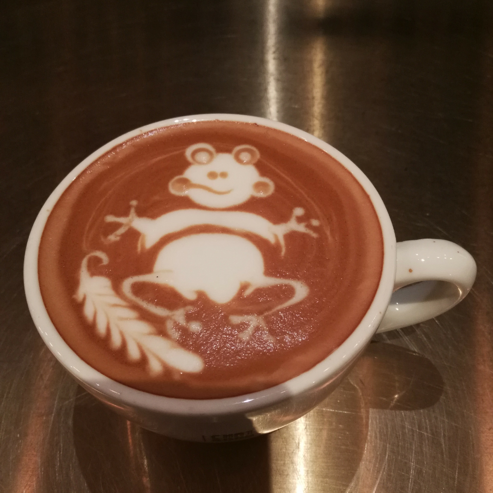 咖啡雕花的美拍