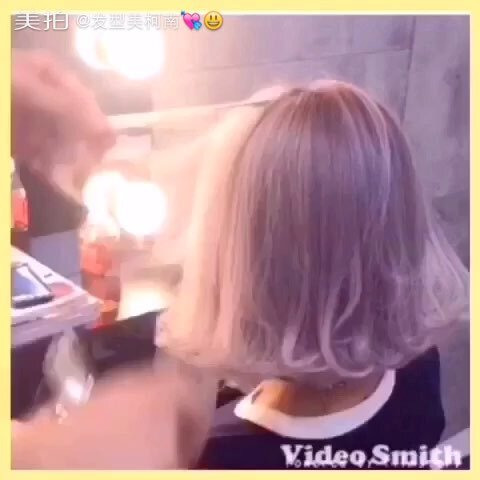 简单实用的短发造型 电棒造型 短发的朋友们赶快学 发型时??柯南的图片