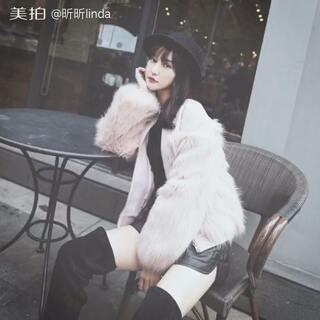 羊毛妮子拼接皮草大衣 喜欢微信 jiangxiaoxiao455581 更多好物推荐#穿秀##时尚穿搭##每周一穿搭##服装女装##今日穿搭#