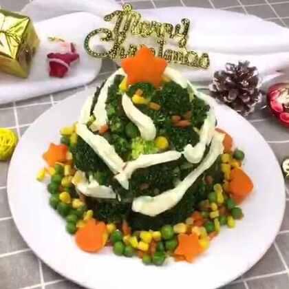 圣诞节快乐!最传统的圣诞节美食,土豆泥西兰花!#美食##圣诞美食狂欢##美食作业#