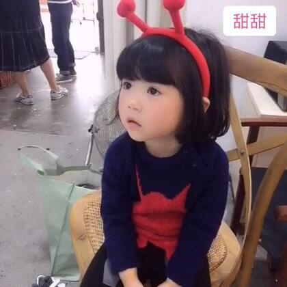 之前的视频~现在头发已经长了很多😝#宝宝#