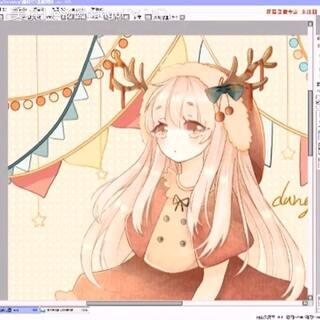 #绘画##板绘##圣诞快乐##绘画过程#圣诞贺图绘画过程③ 终于传完了٩(´Д` ;)۶:.*【←其实很多没传上来】 祝大家圣诞快乐哦~成品图已经在我的首页顶置啦(*°∀°)