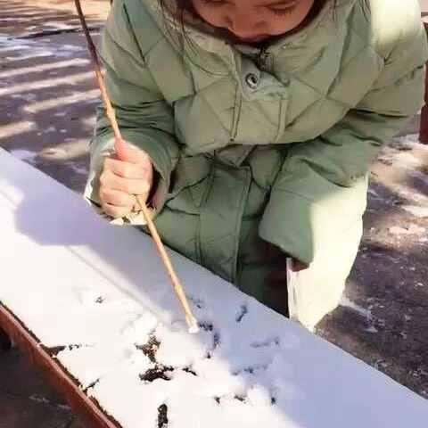 雪上做画 - 甜甜的糖果的美拍