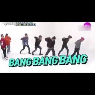 哈哈哈哈#BigBang#挑战跳两倍速的《bang bang bang》,蜜汁带感!TOP动作一出来就笑喷了~😂