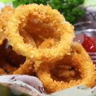 #美食##我要上热门#自制零食油炸洋葱圈,洋气又美味,让你根本停不下来~😏😏#洋葱圈#