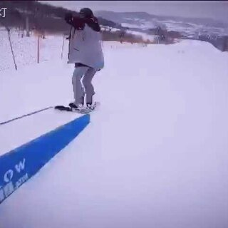 #单板滑雪#松花湖第一次玩公园摔摔摔#单板公园##gopro#