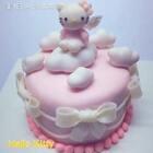 🎀云朵☁️Hello Kitty#hellokitty#蛋糕🎀粉粉嫩嫩的kitty猫给您拜年啦😘希望宝宝们的生活甜甜蜜蜜😘第一次做蛋糕哦 希望宝宝们支持💕💕💕软陶来自@AlLTO爱乐陶 #手工##爱乐陶#