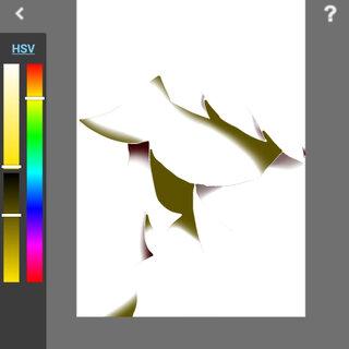 我下载了一个新的应用,当我把其他图层换成不可见时,留下阴影,结果……就这样了😂😂#指绘##画画##小马宝莉手绘##日常分享#